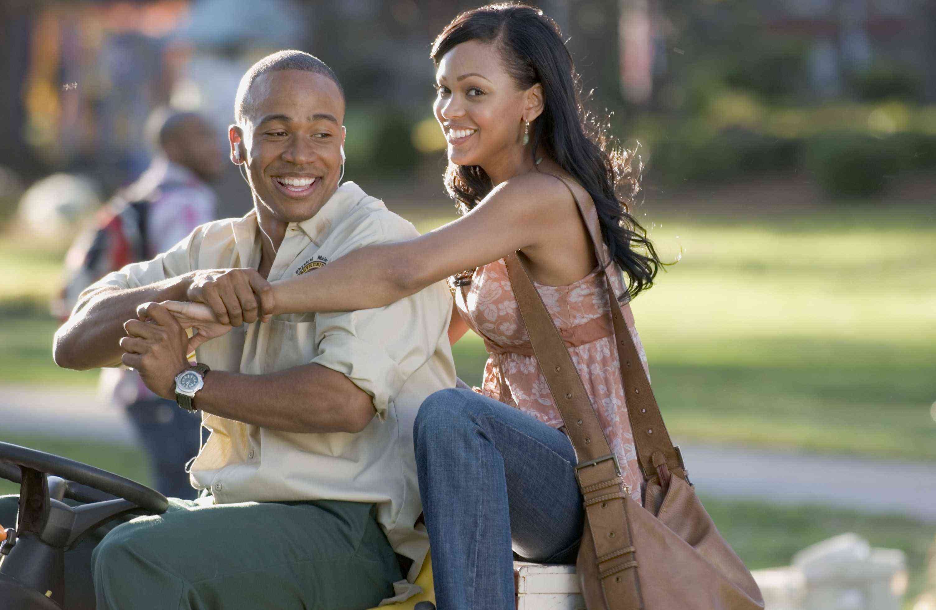 COLUMBUS SHORT as DJ and MEAGAN GOOD as April in Screen Gems' STOMP THE YARD.